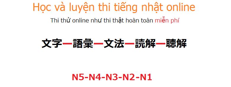 hoc va luyen thi tieng nhat online